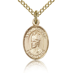 Gold Filled 1/2in St Edward Charm & 18in Chain