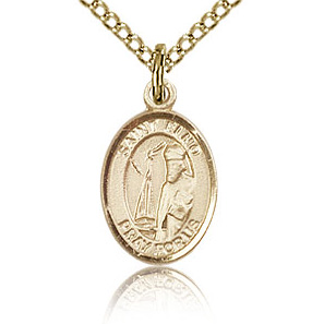 Gold Filled 1/2in St Elmo Charm & 18in Chain