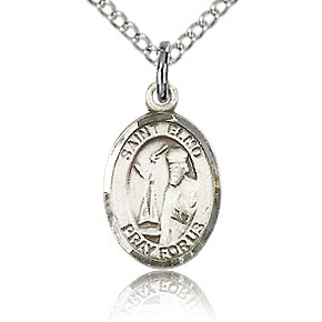 Sterling Silver 1/2in St Elmo Charm & 18in Chain