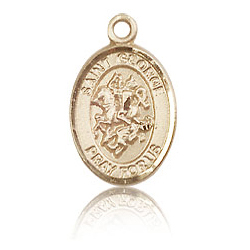 14kt Yellow Gold 1/2in St George Charm