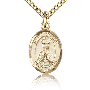 Gold Filled 1/2in St Henry II Charm & 18in Chain
