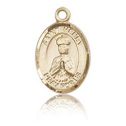 14kt Yellow Gold 1/2in St Henry II Charm