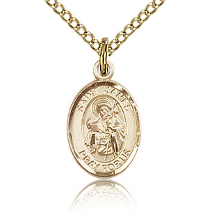 Gold Filled 1/2in St James the Greater Charm & 18in Chain
