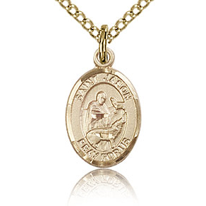 Gold Filled 1/2in St Jason Charm & 18in Chain