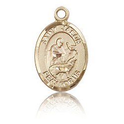 14kt Yellow Gold 1/2in St Jason Charm
