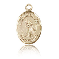 14kt Yellow Gold 1/2in St Joan of Arc Charm