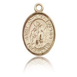 14kt Yellow Gold 1/2in St John the Baptist Charm