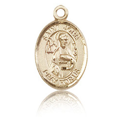 14kt Yellow Gold 1/2in St John the Apostle Charm