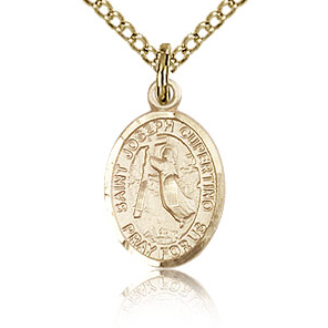 Gold Filled 1/2in St Joseph of Cupertino Charm & 18in Chain