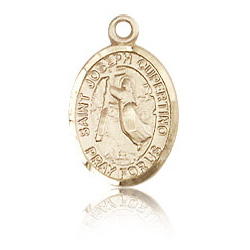 14kt Yellow Gold 1/2in St Joseph of Cupertino Charm