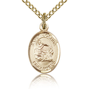 Gold Filled 1/2in St Joshua Charm & 18in Chain