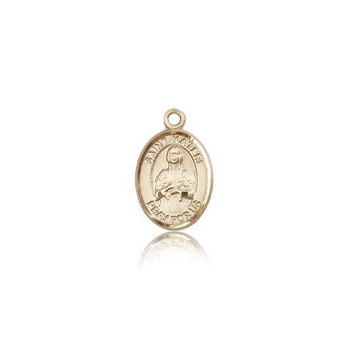 14kt Yellow Gold 1/2in St Kateri Charm