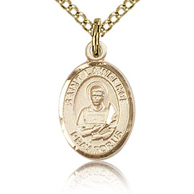 Gold Filled 1/2in St Lawrence Charm & 18in Chain