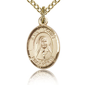 Gold Filled 1/2in St Louise de Marillac Charm & 18in Chain