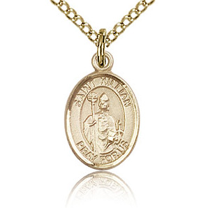 Gold Filled 1/2in St Kilian Charm & 18in Chain