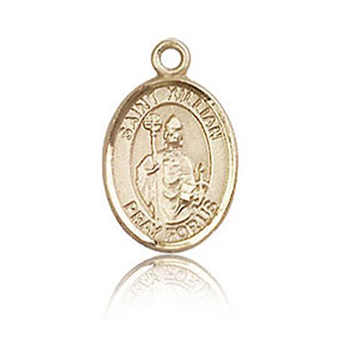 14kt Yellow Gold 1/2in St Kilian Charm