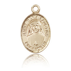 14kt Yellow Gold 1/2in St Maria Faustina Charm