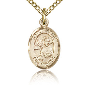 Gold Filled 1/2in St Mark Charm & 18in Chain