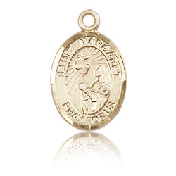 14kt Yellow Gold 1/2in St Margaret Mary Alacoque Charm