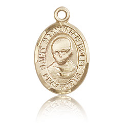 14kt Yellow Gold 1/2in St Maximilian Kolbe Charm