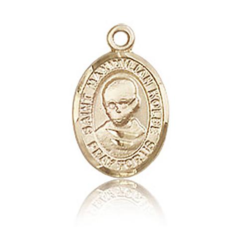 14kt Yellow Gold 1/2in St Maximilian Kolbe Charm