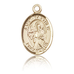 14kt Yellow Gold 1/2in St Matthew Charm