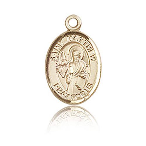14kt Yellow Gold 1/2in St Matthew Charm