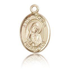 14kt Yellow Gold 1/2in St Monica Charm