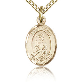 Gold Filled 1/2in St Louis Charm & 18in Chain