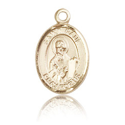 14kt Yellow Gold 1/2in St Paul the Apostle Charm