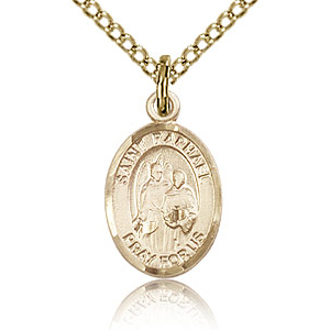 Gold Filled 1/2in St Raphael Charm & 18in Chain