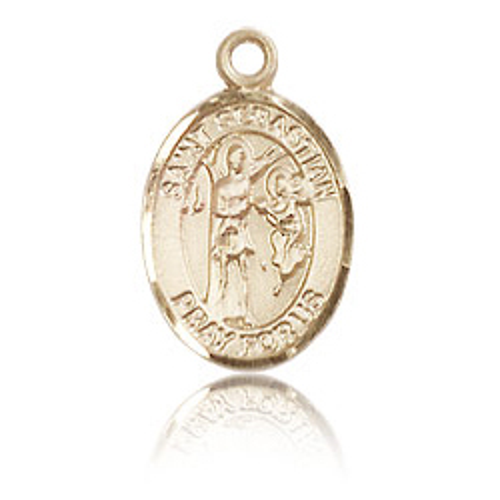 14kt Yellow Gold 1/2in St Sebastian Charm
