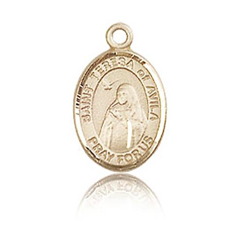 14kt Yellow Gold 1/2in St Teresa of Avila Charm