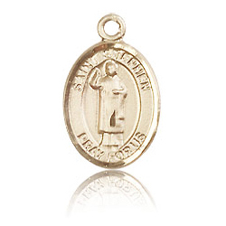 14kt Yellow Gold 1/2in St Stephen Charm