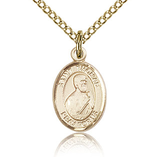Gold Filled 1/2in St Thomas the Apostle Charm & 18in Chain