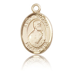 14kt Yellow Gold 1/2in St Thomas the Apostle Charm