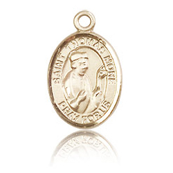14kt Yellow Gold 1/2in St Thomas More Charm