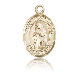 14kt Yellow Gold 1/2in St Juan Diego Charm