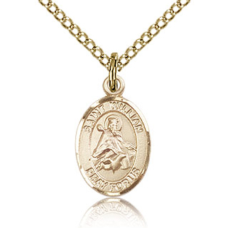 Gold Filled 1/2in St William Charm & 18in Chain