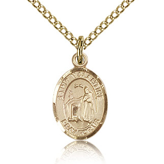 Gold Filled 1/2in St Valentine Charm & 18in Chain