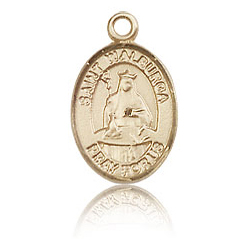 14kt Yellow Gold 1/2in St Walburga Charm
