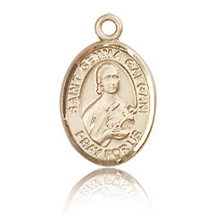 14kt Yellow Gold 1/2in St Gemma Galgani Medal