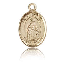 14kt Yellow Gold 1/2in St Sophia Charm