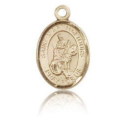 14kt Yellow Gold 1/2in St Martin of Tours Charm