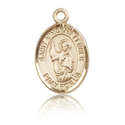 14kt Yellow Gold 1/2in St Vincent Ferrer Charm