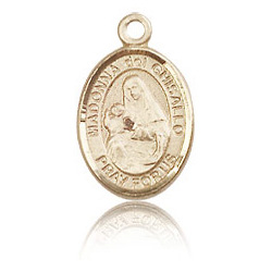 14kt Yellow Gold 1/2in St Madonna Del Ghisallo Charm