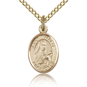 Gold Filled 1/2in St Therese of Lisieux Charm & 18in Chain