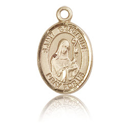 14kt Yellow Gold 1/2in St Gertrude Charm