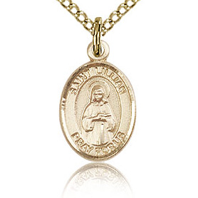 Gold Filled 1/2in St Lillian Charm & 18in Chain