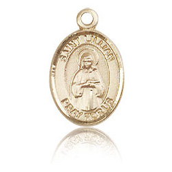14kt Yellow Gold 1/2in St Lillian Charm